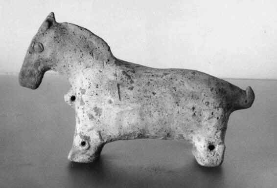 clay animals in relief