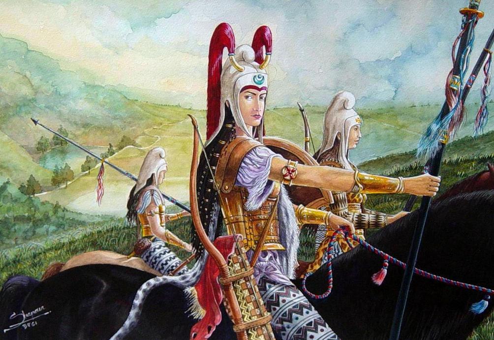 warrior women print