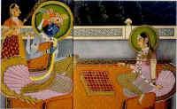 Radha Krishna Playing Chess.jpg (43022 bytes)