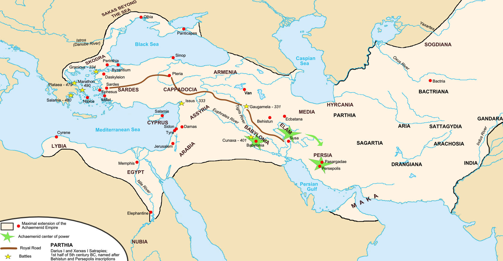 The persian invasion of greece cais the achaemenid persian empire click to enlarge gumiabroncs Choice Image