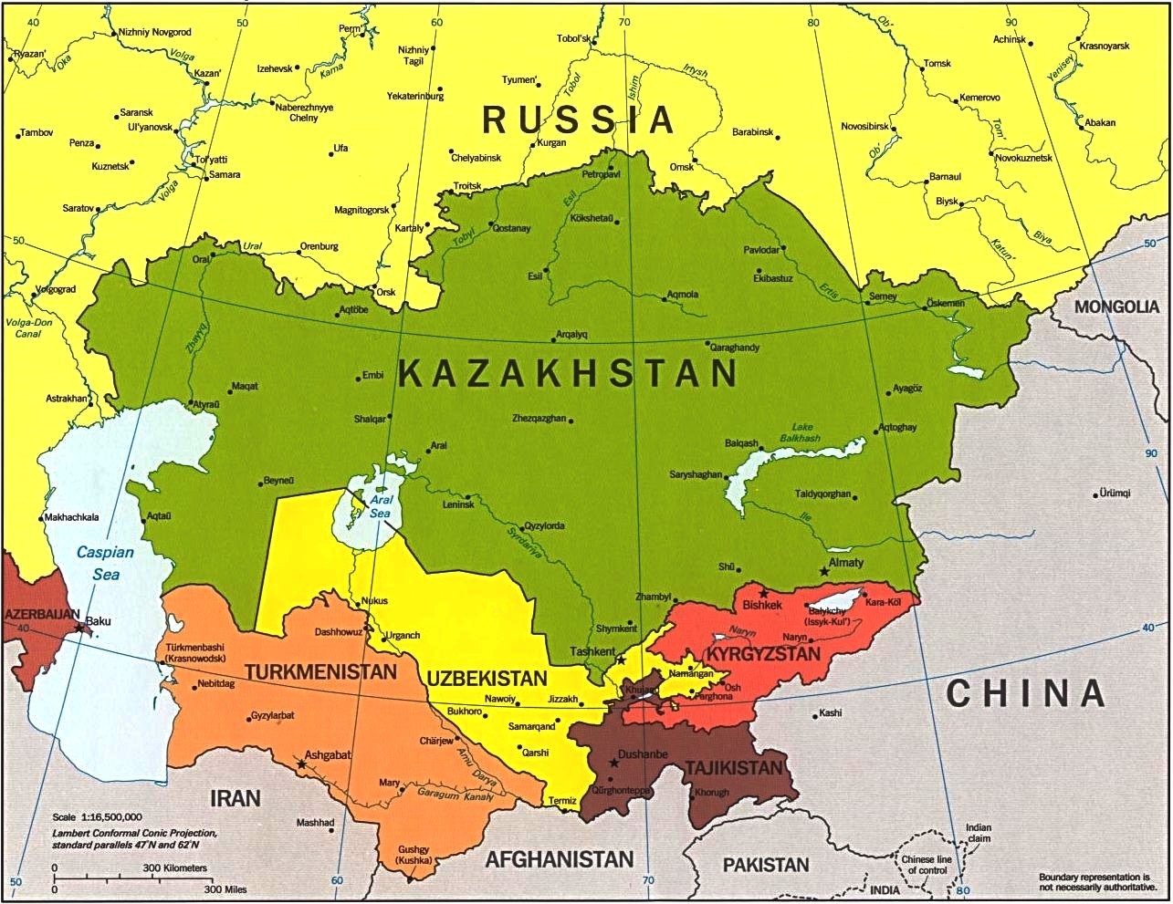 North West Asia Map.The Role Of Central Asian Peoples In The Cais C