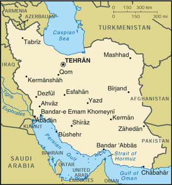 [Country map of Iran]