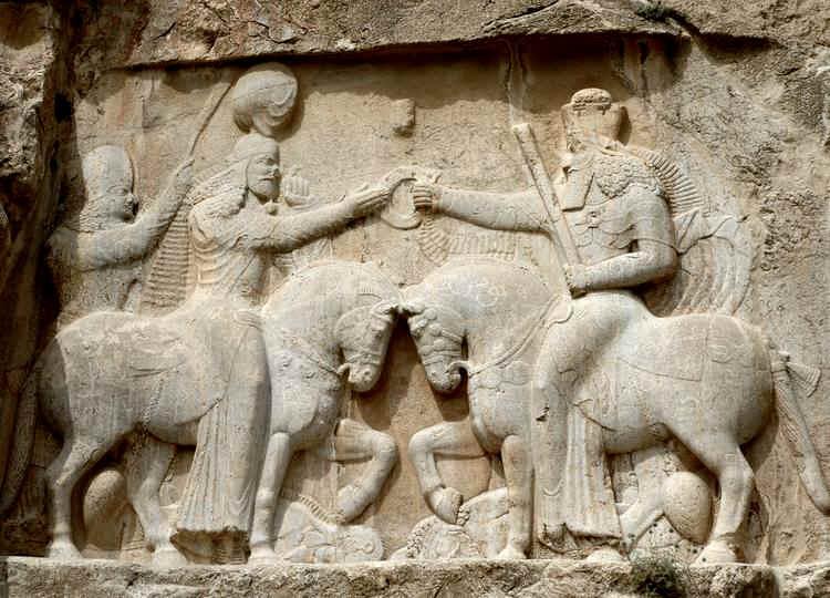 Ardashir I Rey Sasanida. Dracma de plata. 233/4-238/9 d.C. Ardashir_invstiture